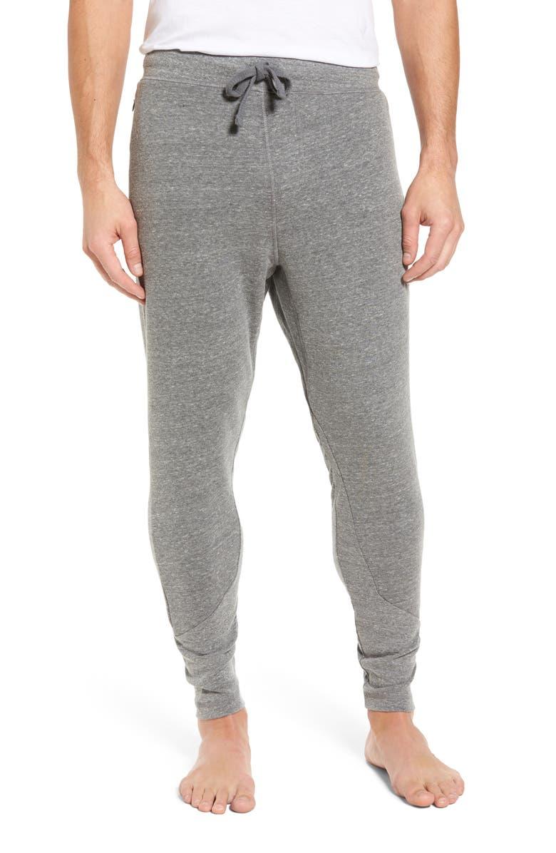 ALO Zealous Slim Fit Sweatpants, Main, color, GREY TRIBLEND