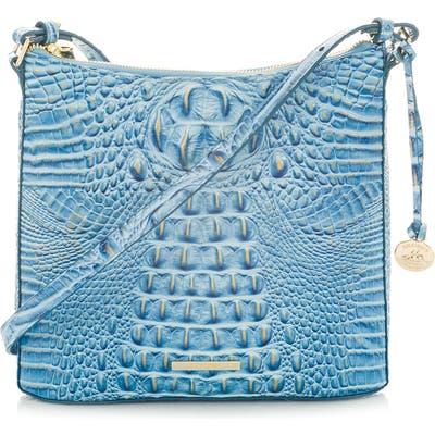 Brahmin Katie Croc Embossed Leather Crossbody Bag - Blue
