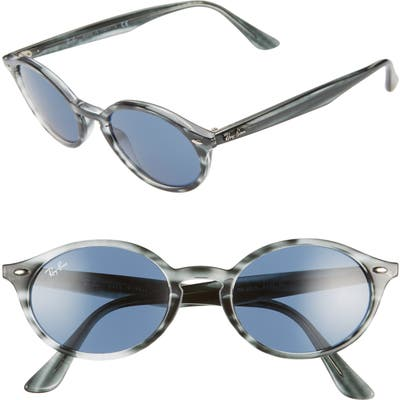 Ray-Ban 51Mm Oval Sunglasses - Grey Havana