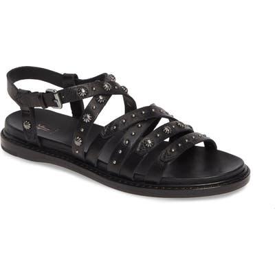 Frye Andora Concho Strappy Sandal- Black