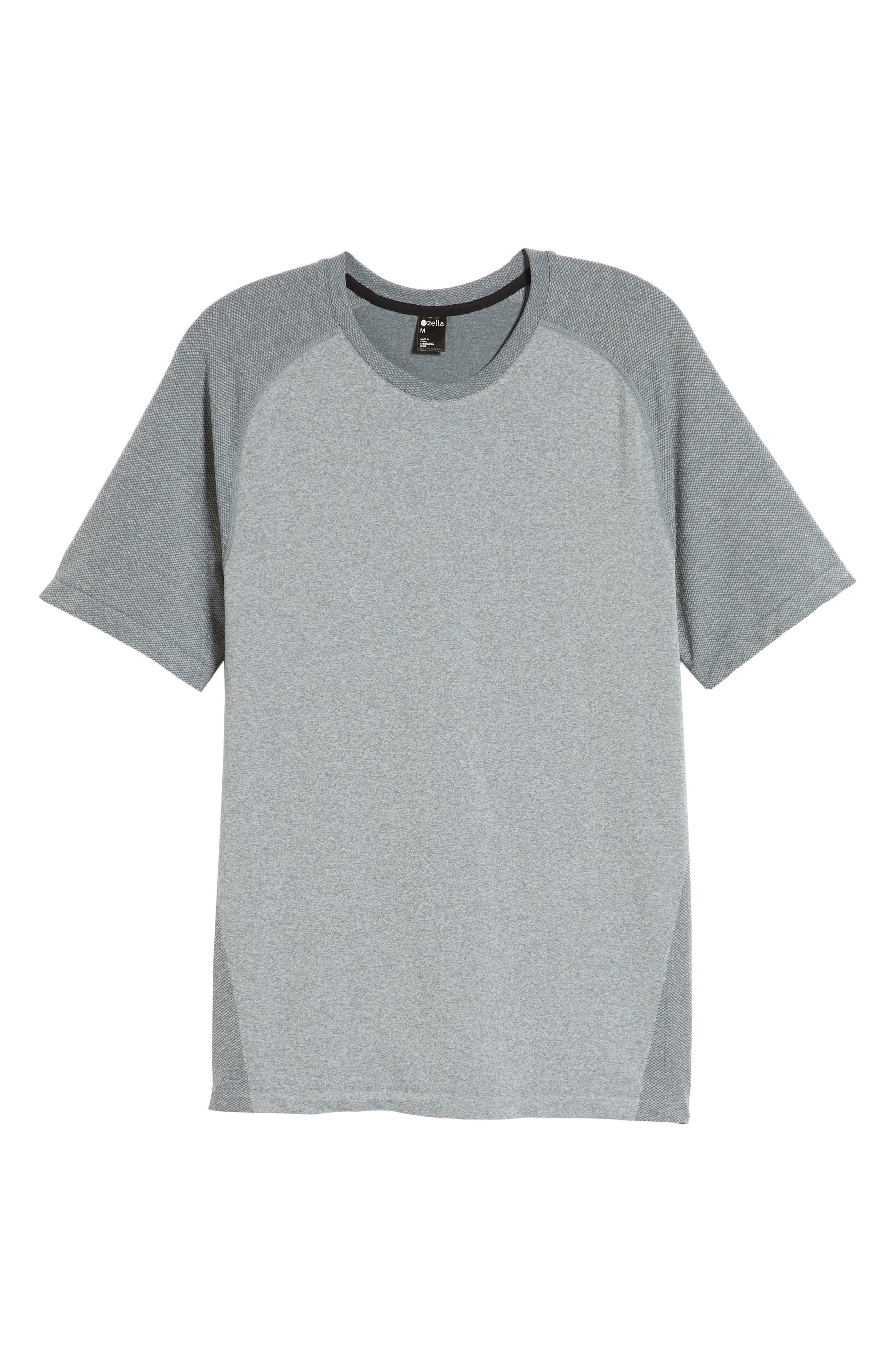 ,                             Seamless Raglan T-Shirt,                             Alternate thumbnail 7, color,                             GREY MONUMENT MELANGE