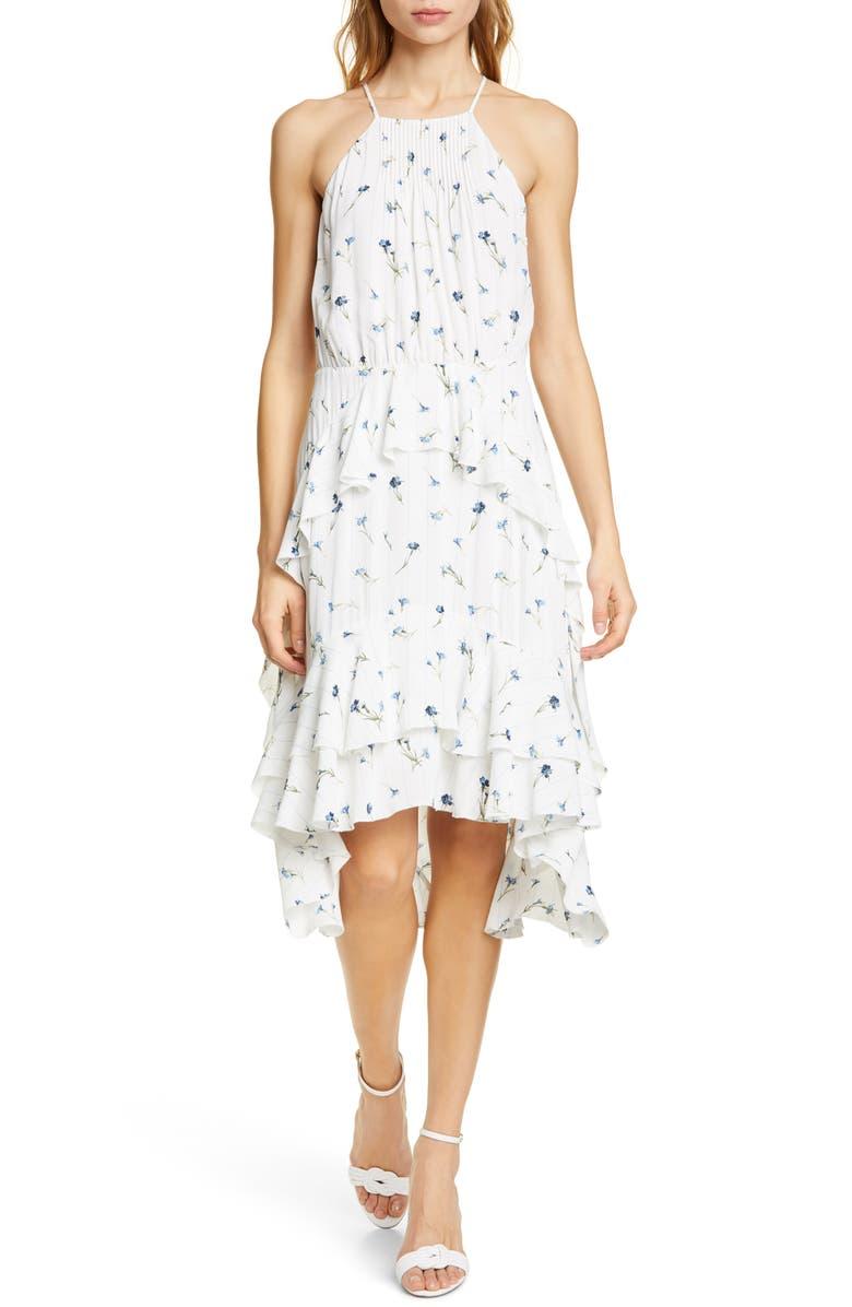 JOIE Lamberta Sleeveless High/Low Dress, Main, color, 900