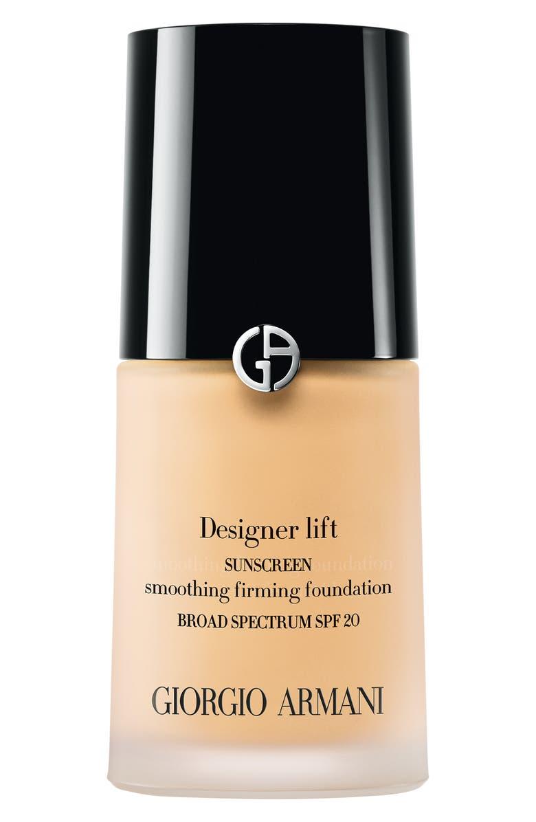 GIORGIO ARMANI Designer Lift Smooth Firming Foundation SPF 20/PA +++, Main, color, 02 LIGHT/WARM