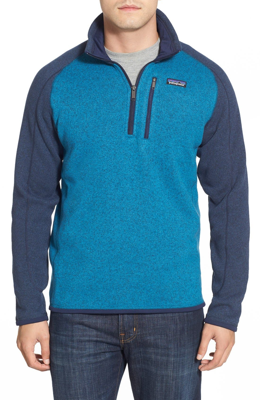 ,                             Better Sweater Quarter Zip Pullover,                             Main thumbnail 151, color,                             400