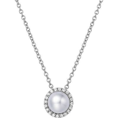 Lafonn Birthstone Halo Pendant Necklace