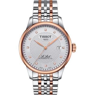 Tissot Le Locle Powermatic 80 Diamond Bracelet Watch,