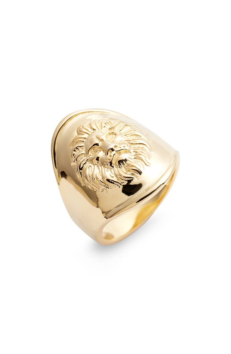 ARGENTO VIVO Leon Ring, Main, color, GOLD