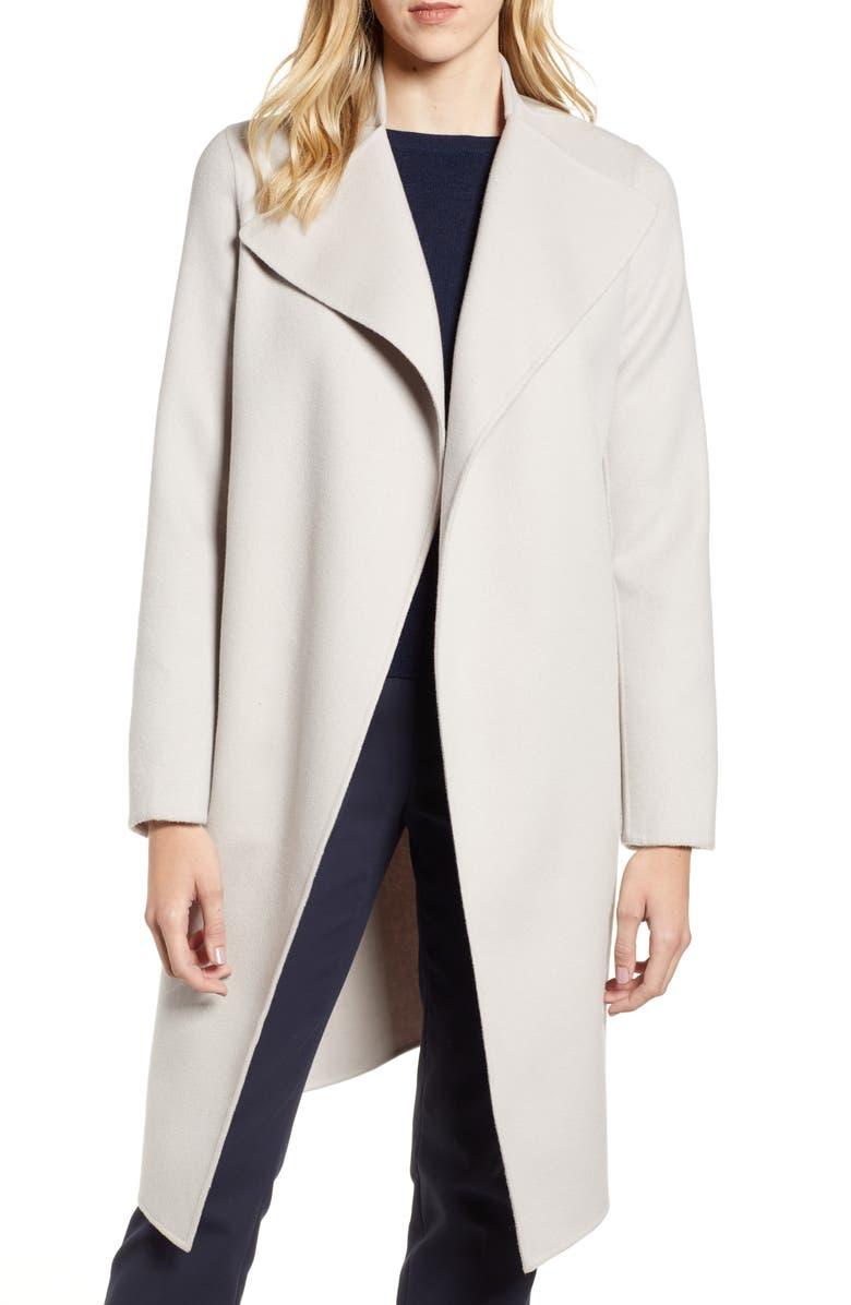 MACKAGE Leora Belted Long Wool Coat, Main, color, 250