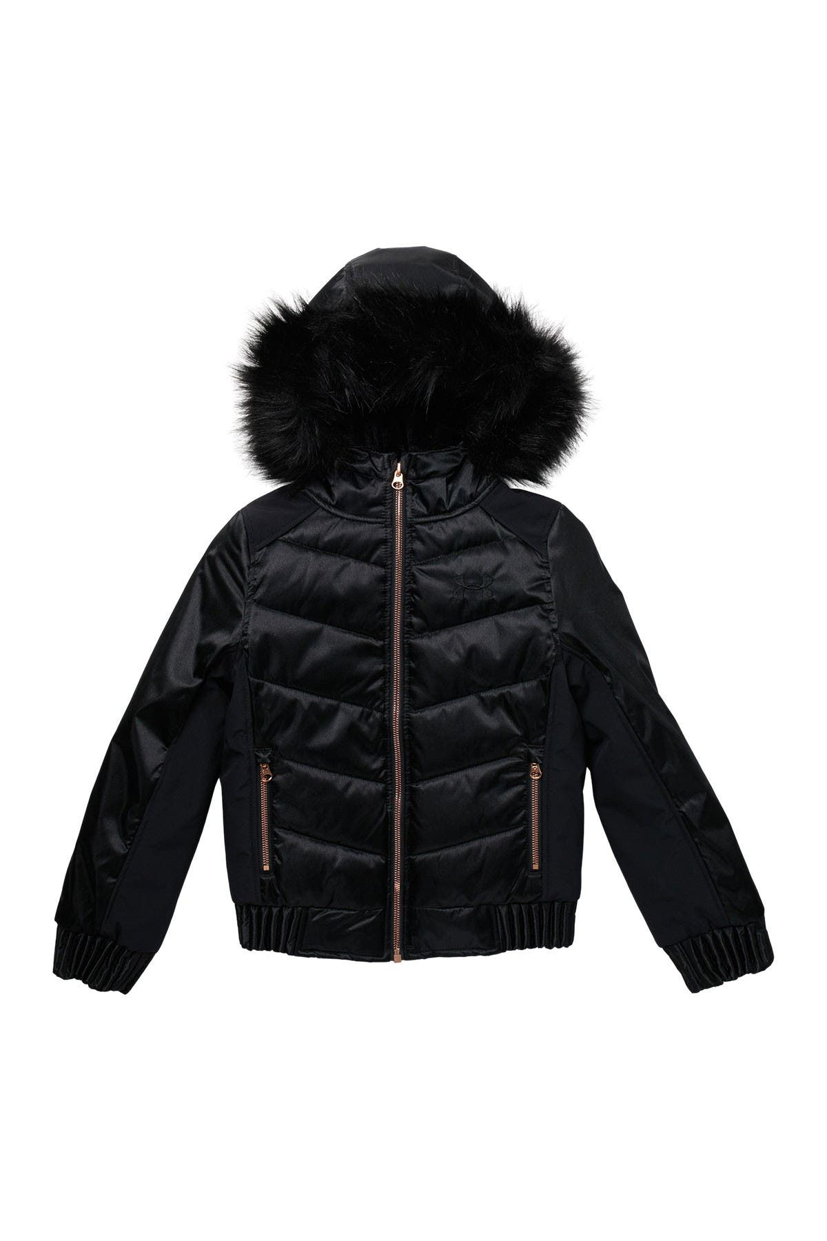Image of Under Armour Faux Fur Hooded Liveluster Quilted Jacket