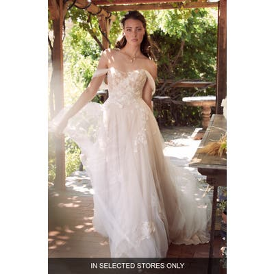 Willowby Maudie Off The Shoulder Lace & Tulle Wedding Dress