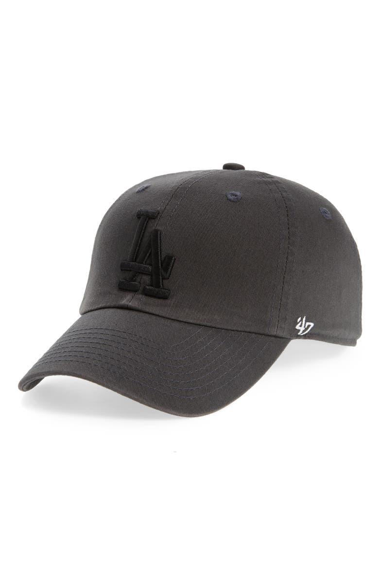 '47 Dodgers Cleanup Baseball Cap, Main, color, CHARCOAL