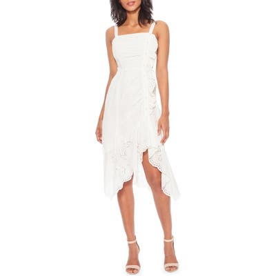 Parker Millie Sleeveless High/low Dress, White