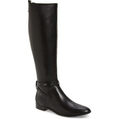 Ted Baker London Plannia Bow Hardware Knee High Riding Boot - Black