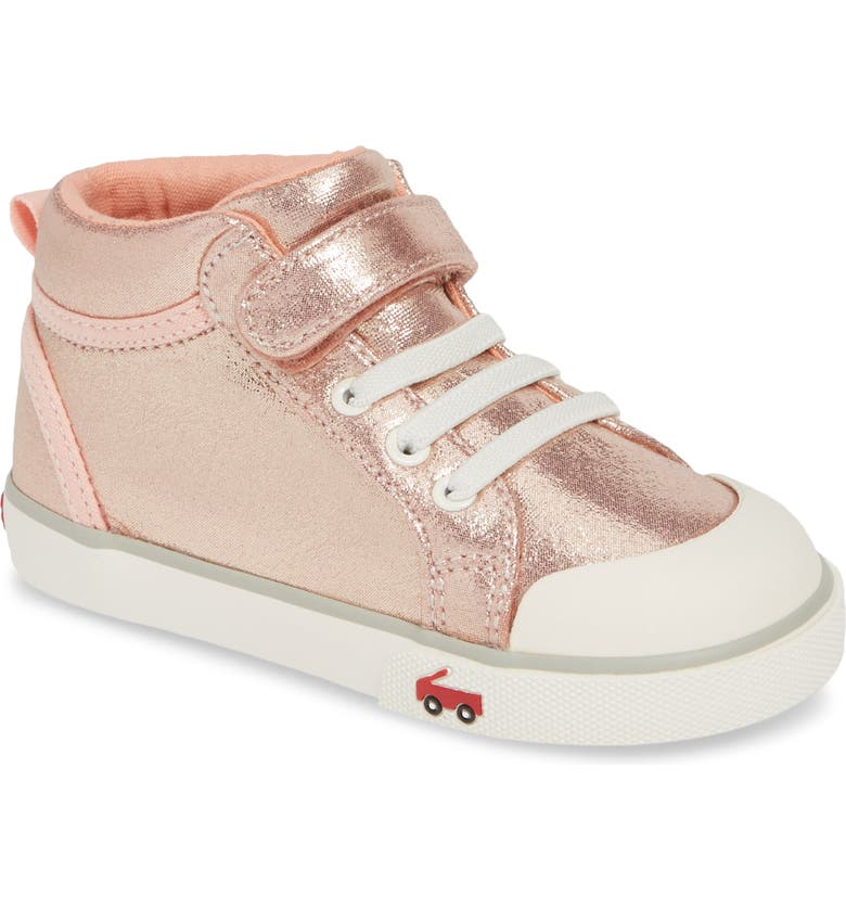 SEE KAI RUN Peyton Metallic Mid Top Sneaker, Main, color, ROSE SHIMMER