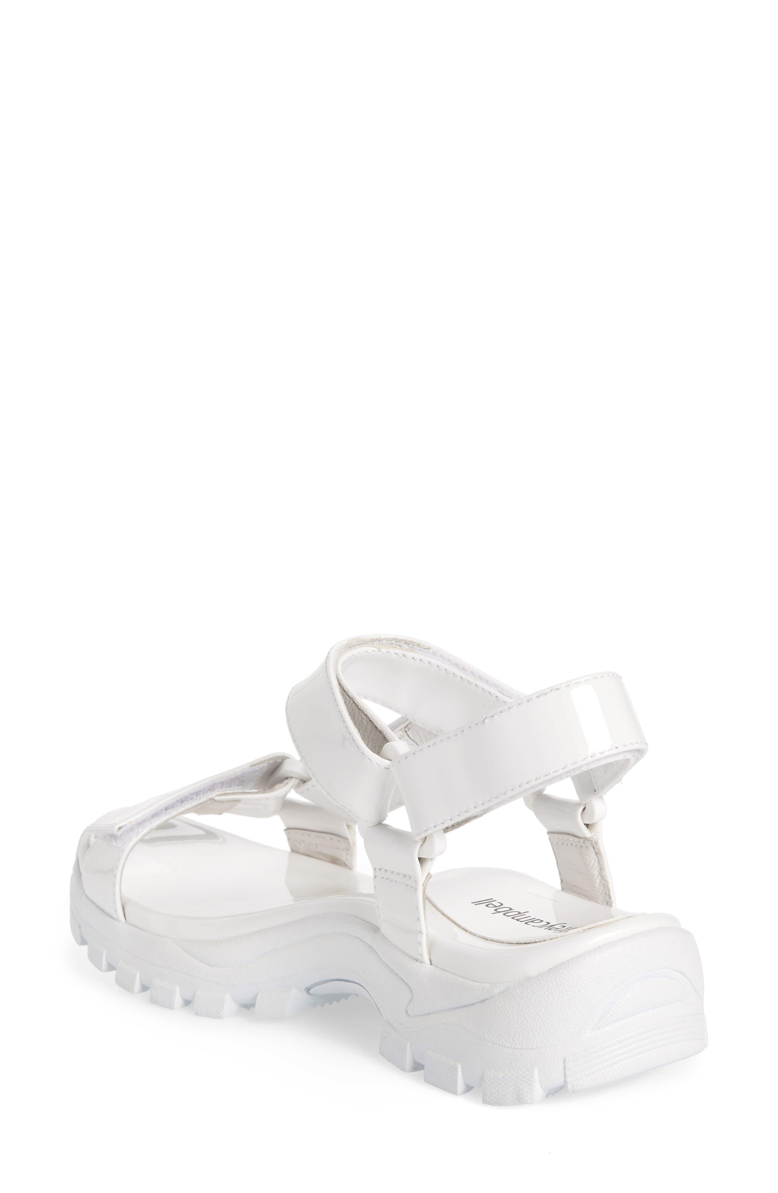 ,                             Patio Sport Sandal,                             Alternate thumbnail 2, color,                             WHITE PATENT LEATHER/ WHITE