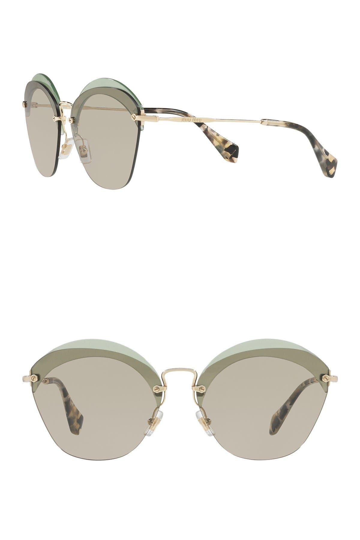 Image of MIU MIU 62mm Irregular Oval Sunglasses