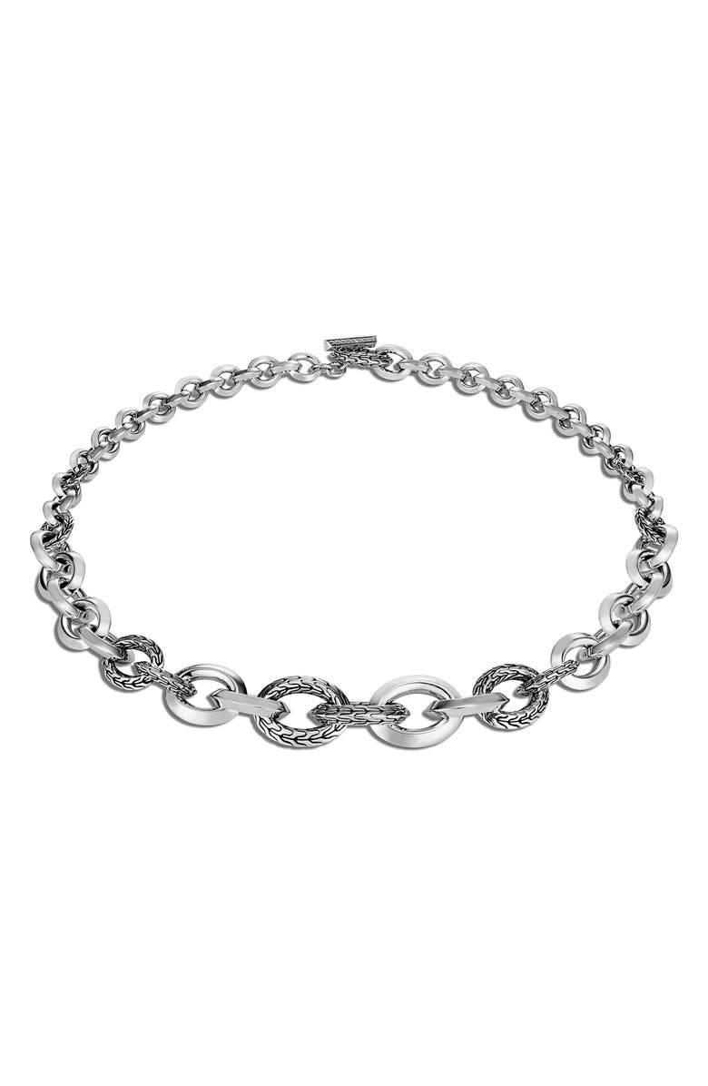 JOHN HARDY Classic Chain Knife Edge Necklace, Main, color, SILVER