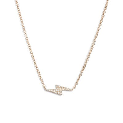 Ef Collection Diamond Lightning Bolt Pendant Necklace