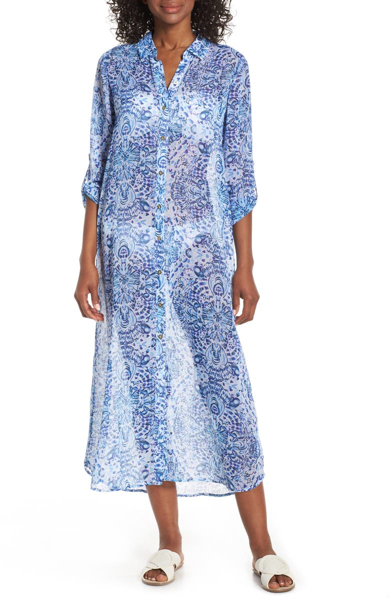 LILLY PULITZER<SUP>®</SUP> Natalie Chiffon Cover-Up Maxi Dress, Main, color, 115