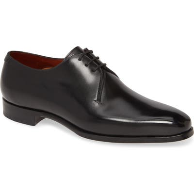 Magnanni Bedford Plain Toe Derby- Black