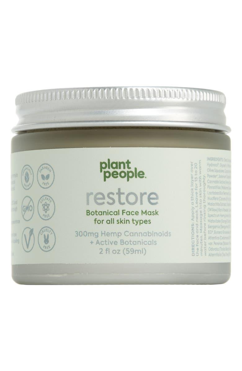PLANT PEOPLE Restore CBD Face Mask, Main, color, 000