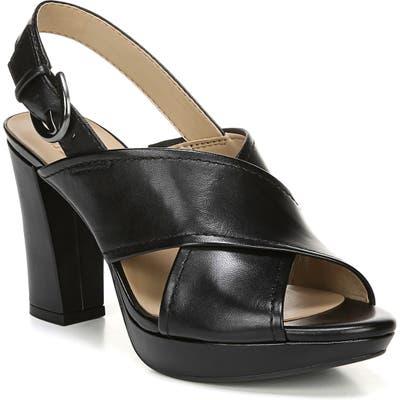 Naturalizer Addy Platform Slingback Sandal, Black
