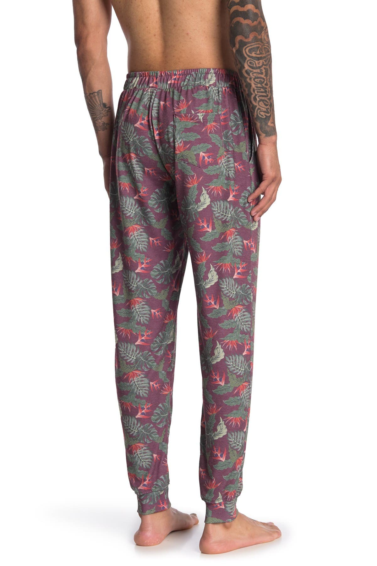 Image of Chillin Dylan Baja Man Tropical Print Joggers