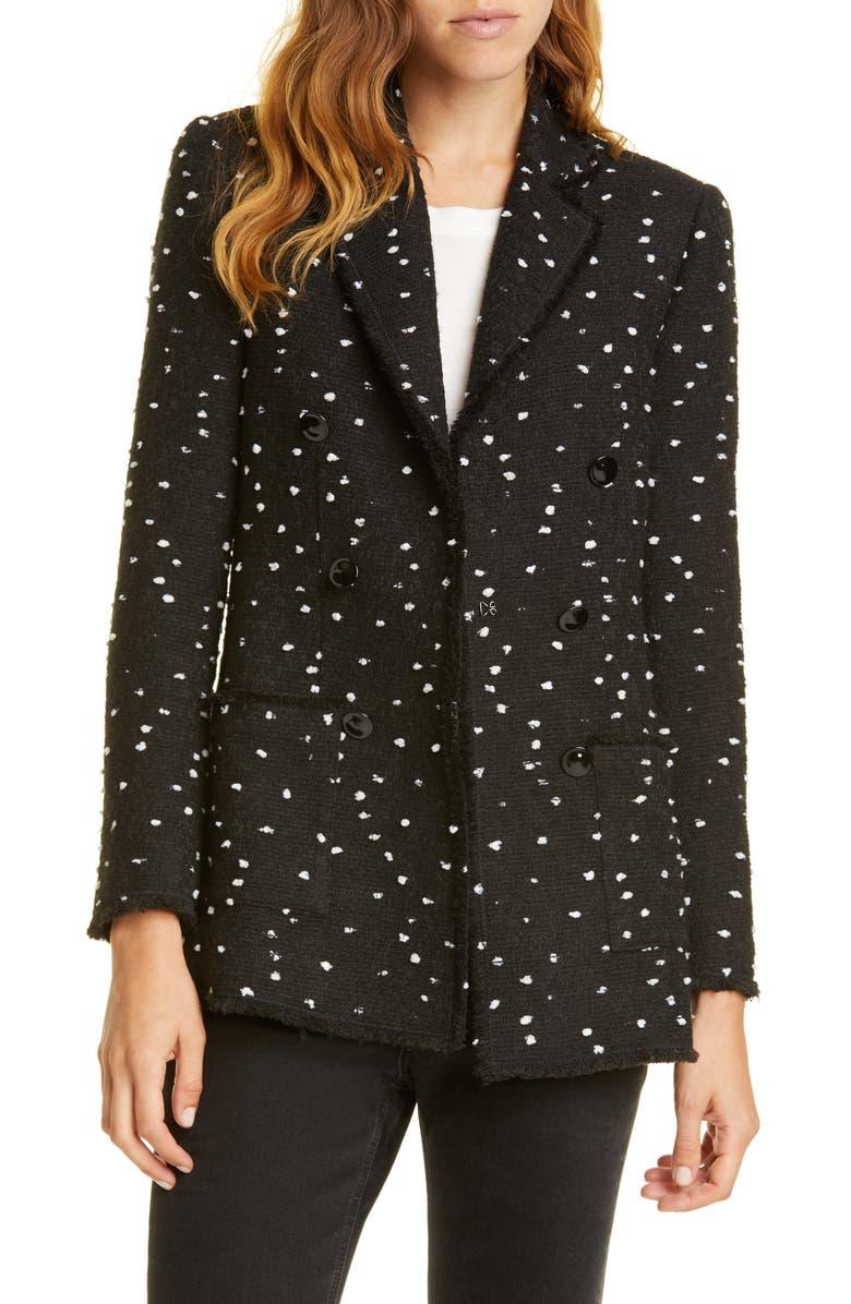 REBECCA TAYLOR Bouclé Tweed Blazer, Main, color, 014
