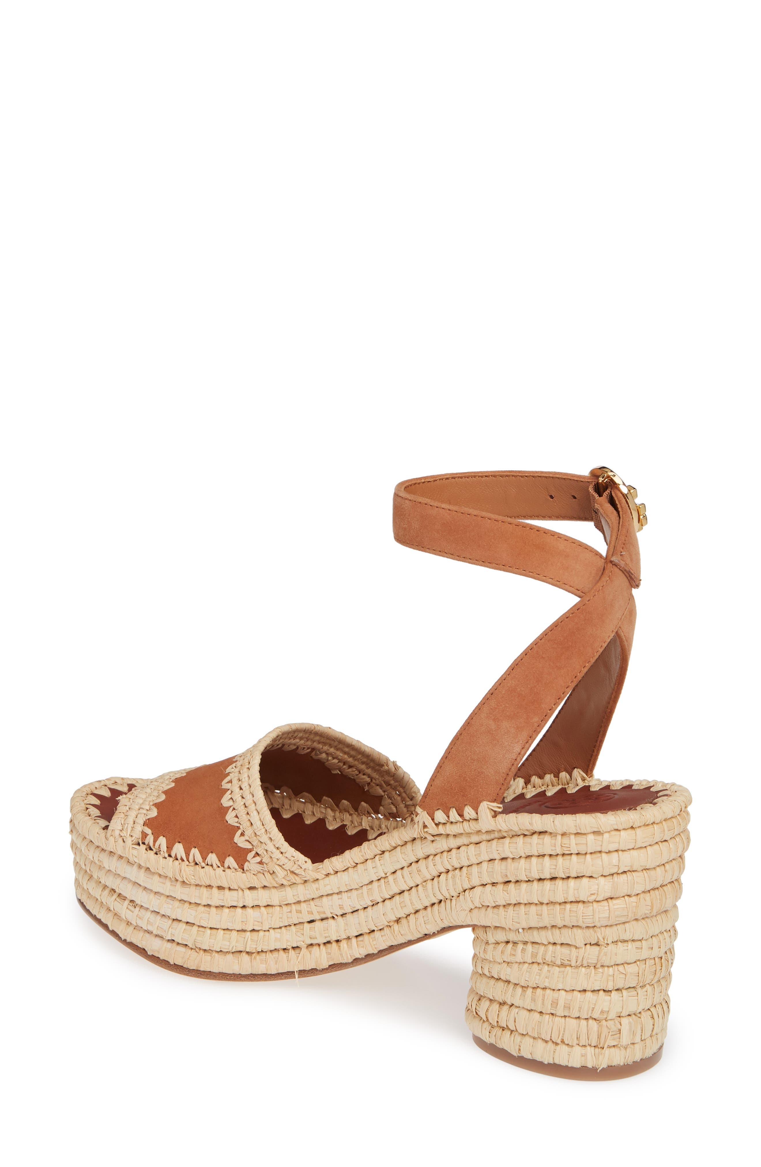 ,                             Arianne Platform Ankle Strap Sandal,                             Alternate thumbnail 2, color,                             TAN