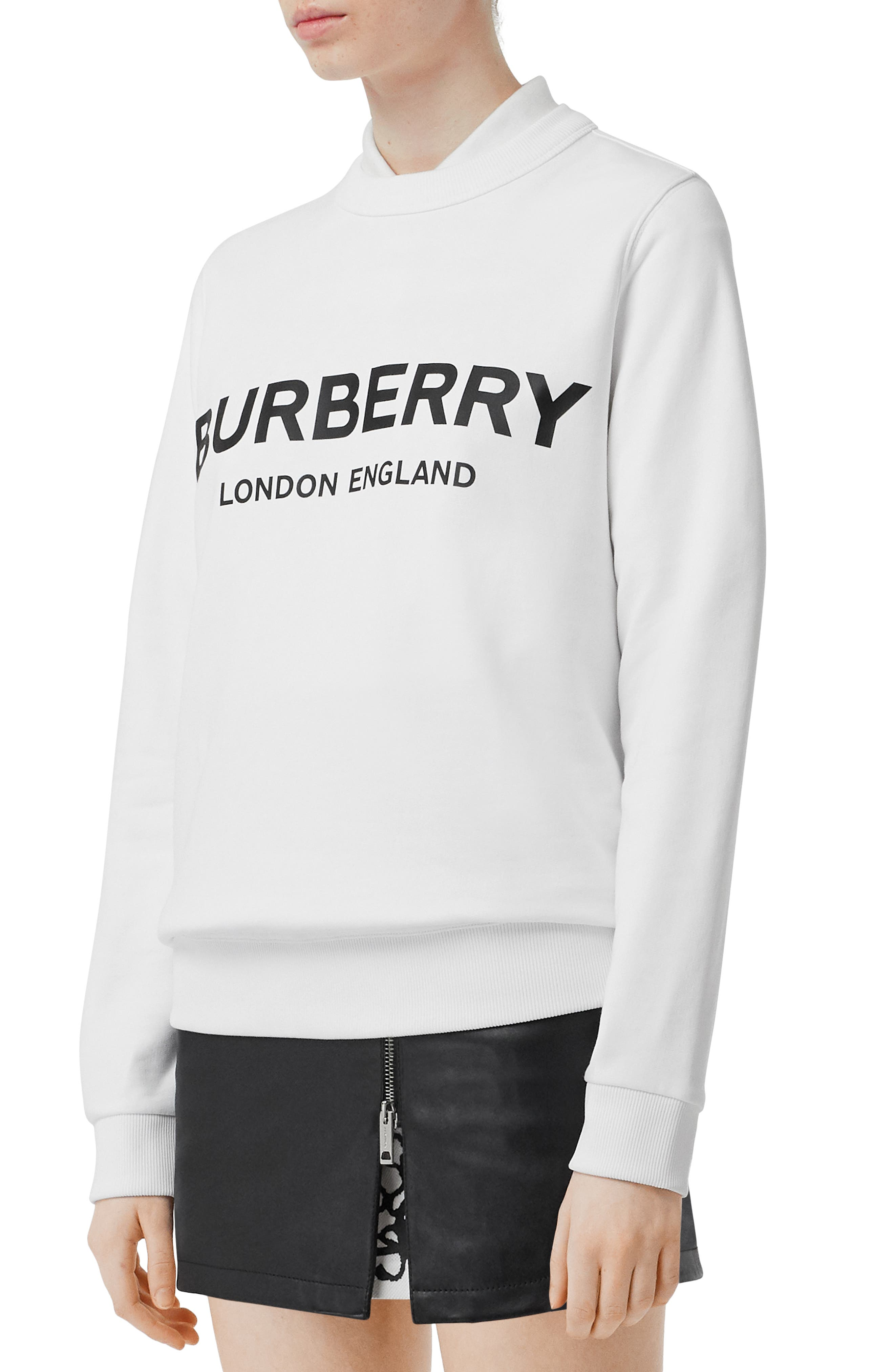 ,                             Fairhall Logo Print Sweatshirt,                             Alternate thumbnail 3, color,                             WHITE