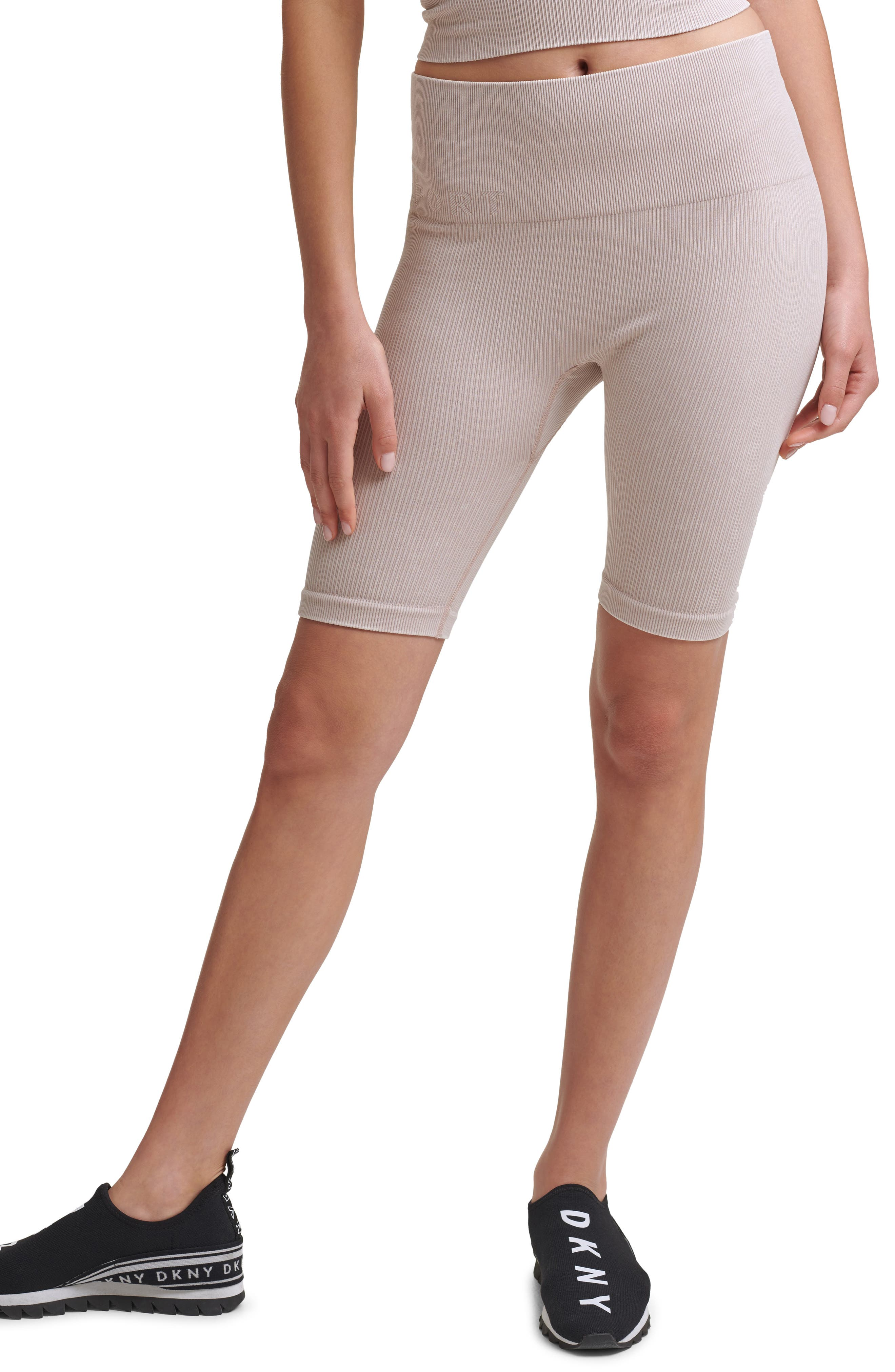 High Waist Seamless Rib Bike Shorts