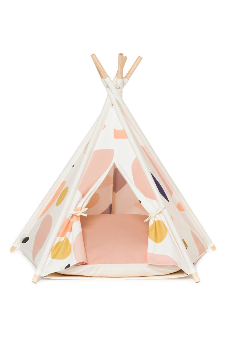 HUTS AND BAY Pet Teepee Tent, Main, color, PINK