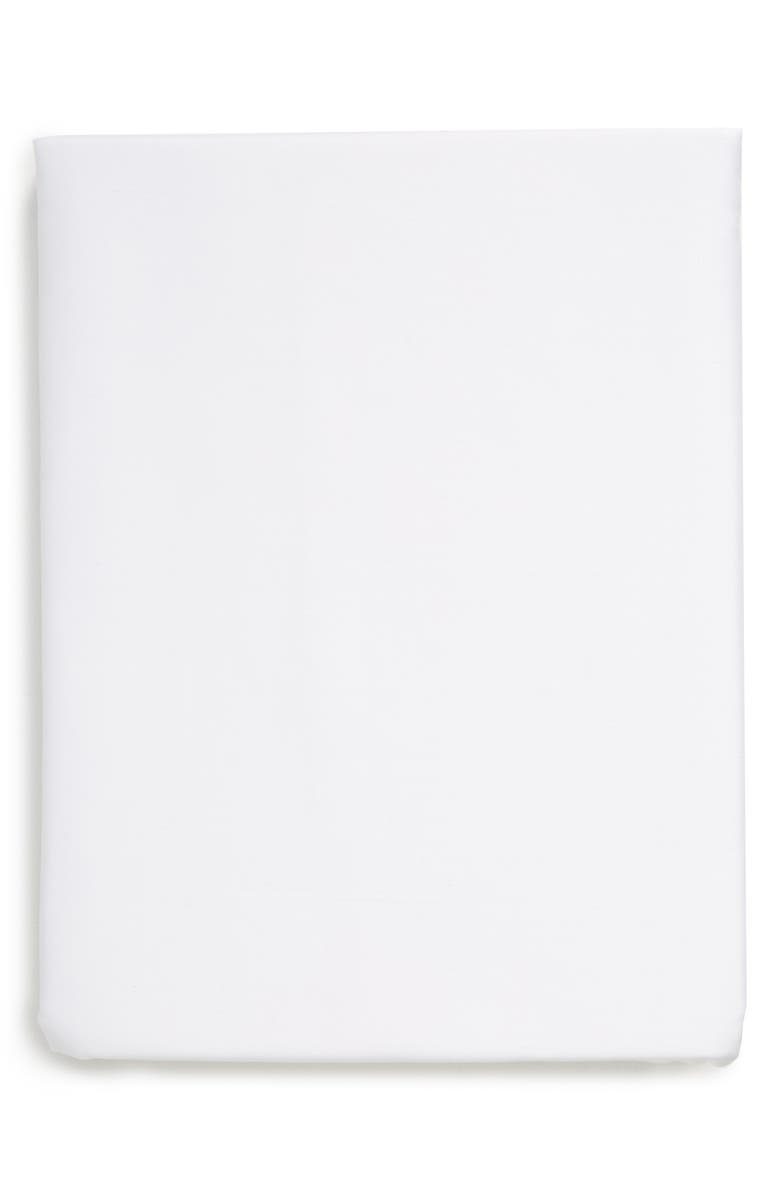 NORDSTROM Cotton & Tencel<sup>®</sup> Lyocell Flat Sheet, Main, color, WHITE