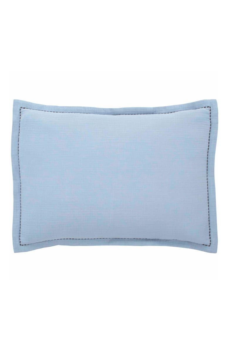 ED ELLEN DEGENERES Soledad Crinkle Accent Pillow, Main, color, SPA BLUE