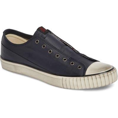 Bootleg By John Varvatos Linen Laceless Sneaker- Blue