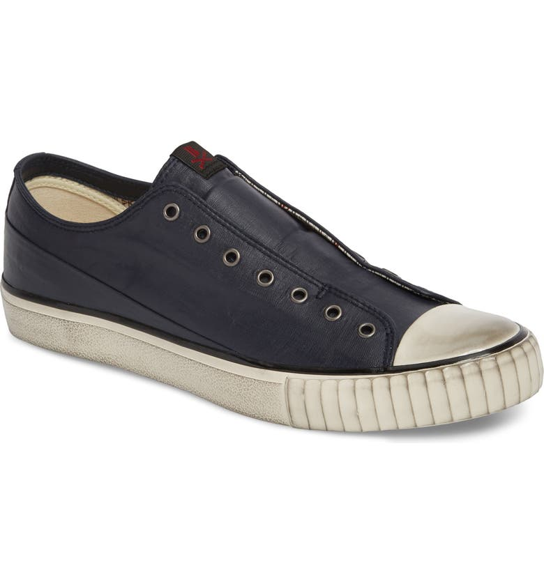 BOOTLEG BY JOHN VARVATOS Linen Laceless Sneaker, Main, color, MIDNIGHT LINEN