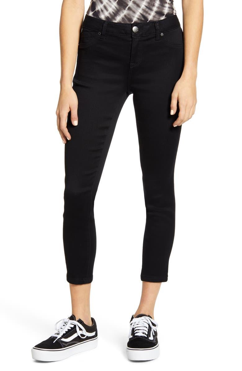 1822 DENIM Butter Crop Skinny Jeans, Main, color, BLACK