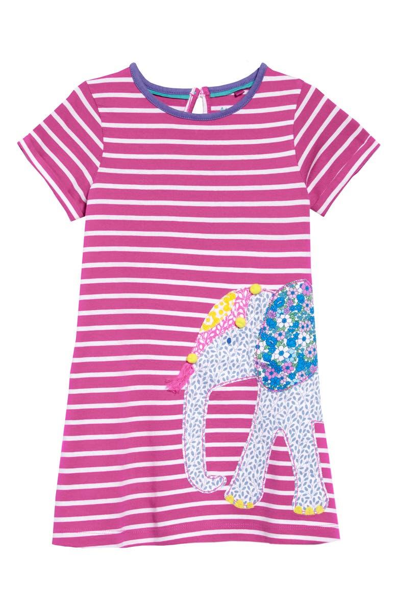 MINI BODEN Safari Friend Appliqué Dress, Main, color, 664