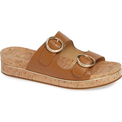Michael Michael Kors Estelle Slide Sandal- Brown