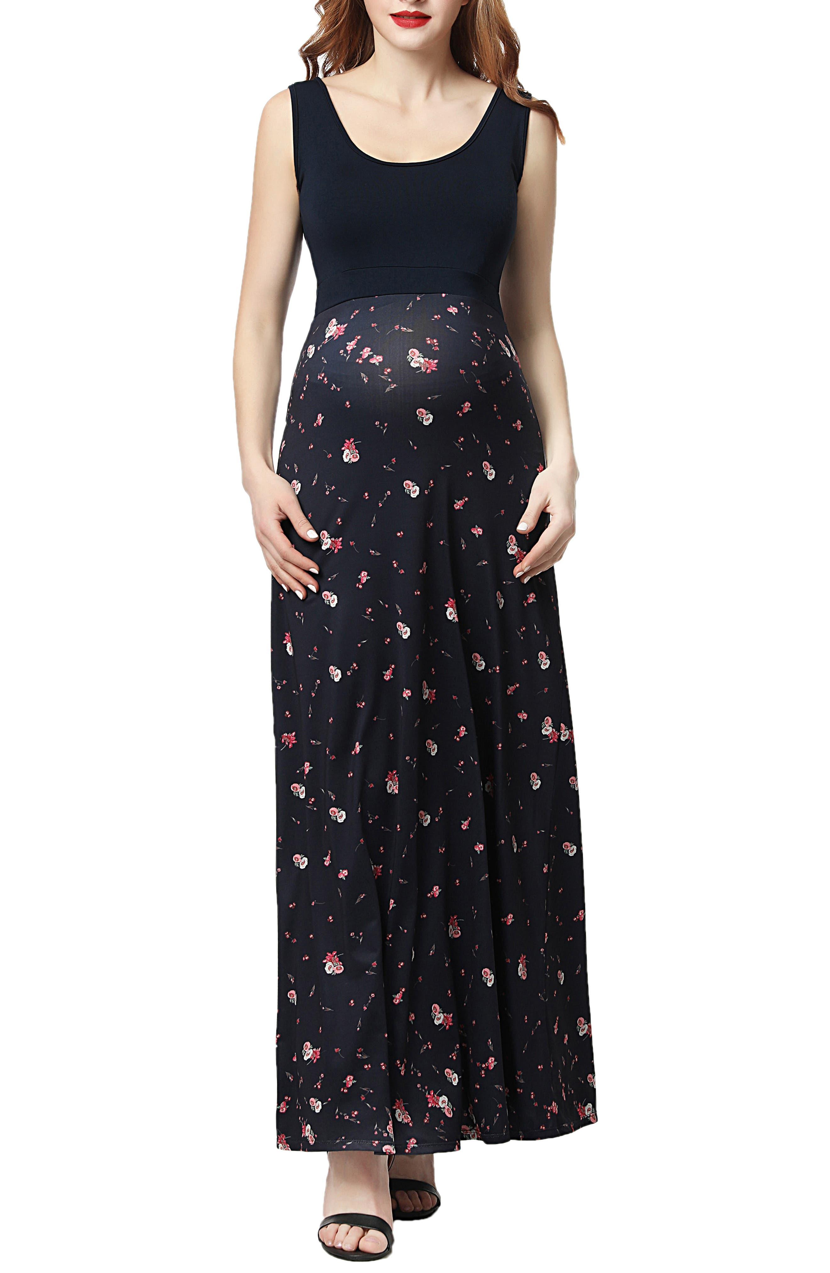 Kimi And Kai Briar Floral Print Maternity Maxi Dress