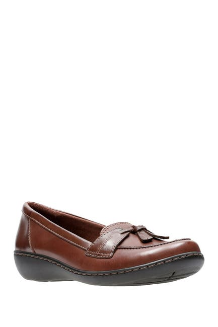 Image of Clarks Ashland Bubble Leather Slip-On Loafer - Multiple Widths Available