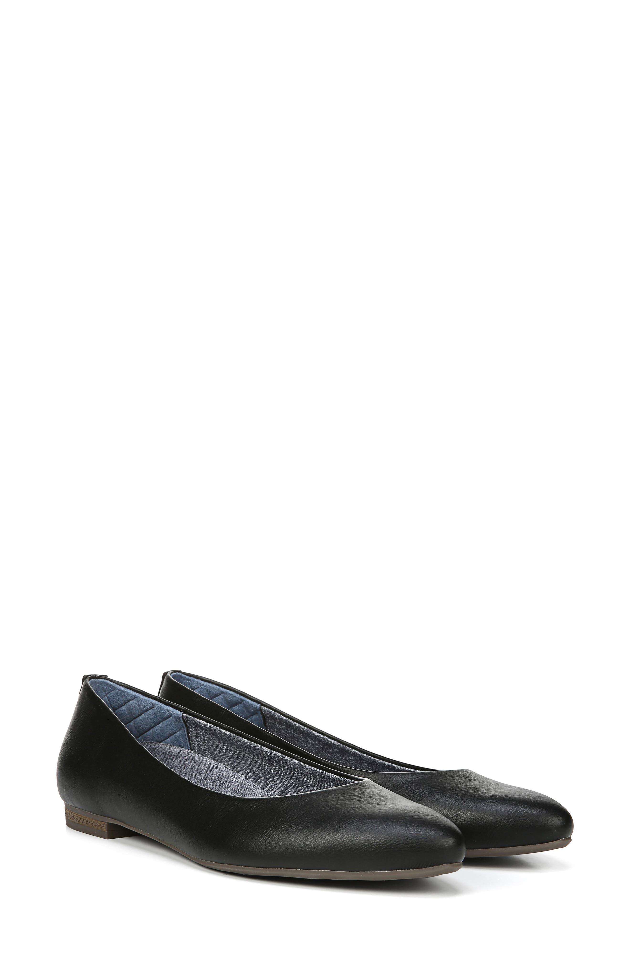 ,                             Aston Flat,                             Alternate thumbnail 8, color,                             BLACK FAUX LEATHER