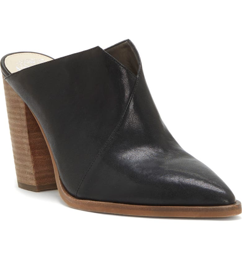 VINCE CAMUTO Crissidy Mule, Main, color, BLACK LEATHER
