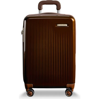 Briggs & Riley 22-Inch Domestic Expandable Spinner Wheeled Carry-On - Brown