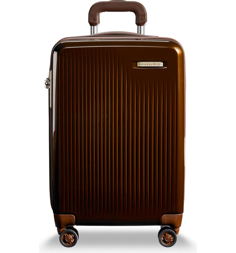 BRIGGS & RILEY 22-Inch Domestic Expandable Spinner Wheeled Suitcase, Main, color, BRONZE