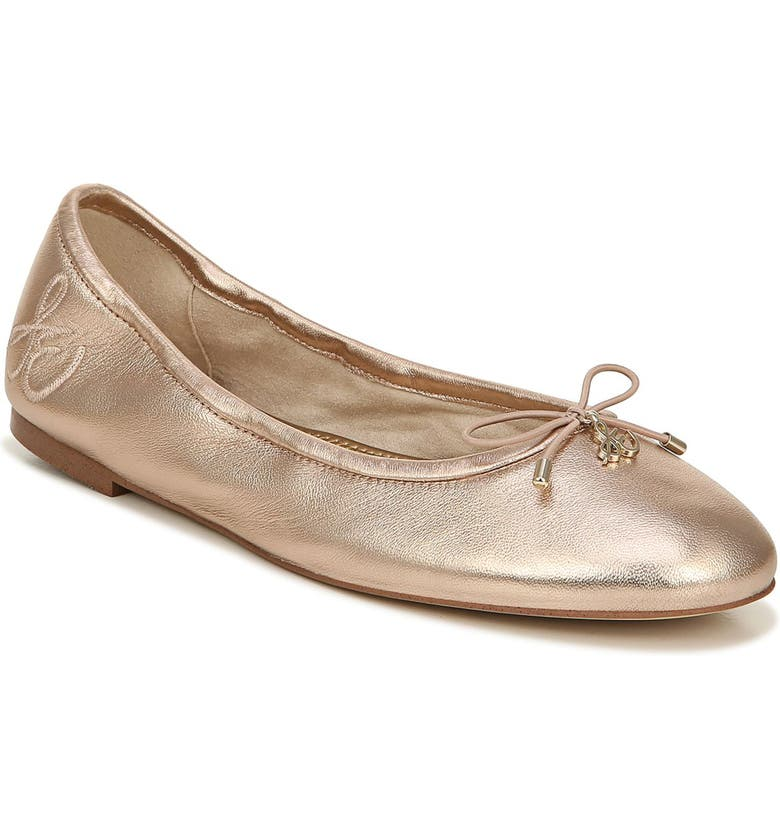 SAM EDELMAN Felicia Flat, Main, color, CHAMPAGNE/ CHAMPAGNE LEATHER