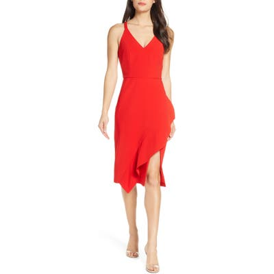 Harlyn Sleeveless Cocktail Dress, Red
