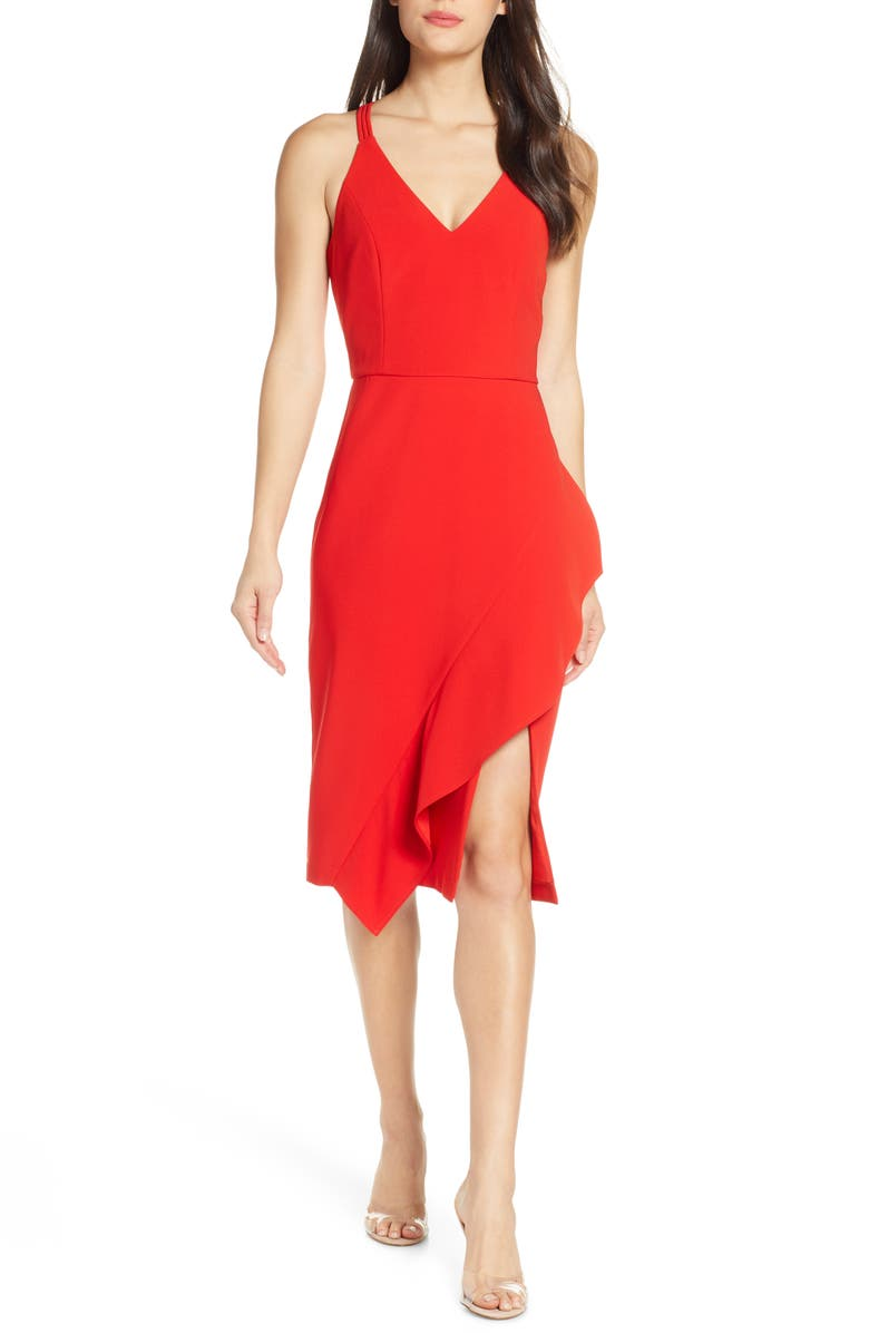 HARLYN Sleeveless Cocktail Dress, Main, color, RED