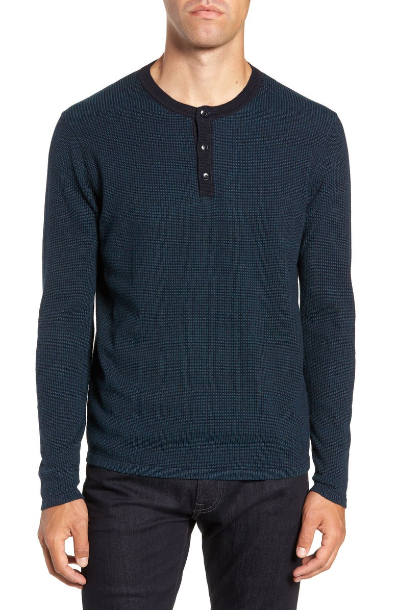 ZACHARY PRELL Kimball Regular Fit Henley Sweater, Main, color, 311
