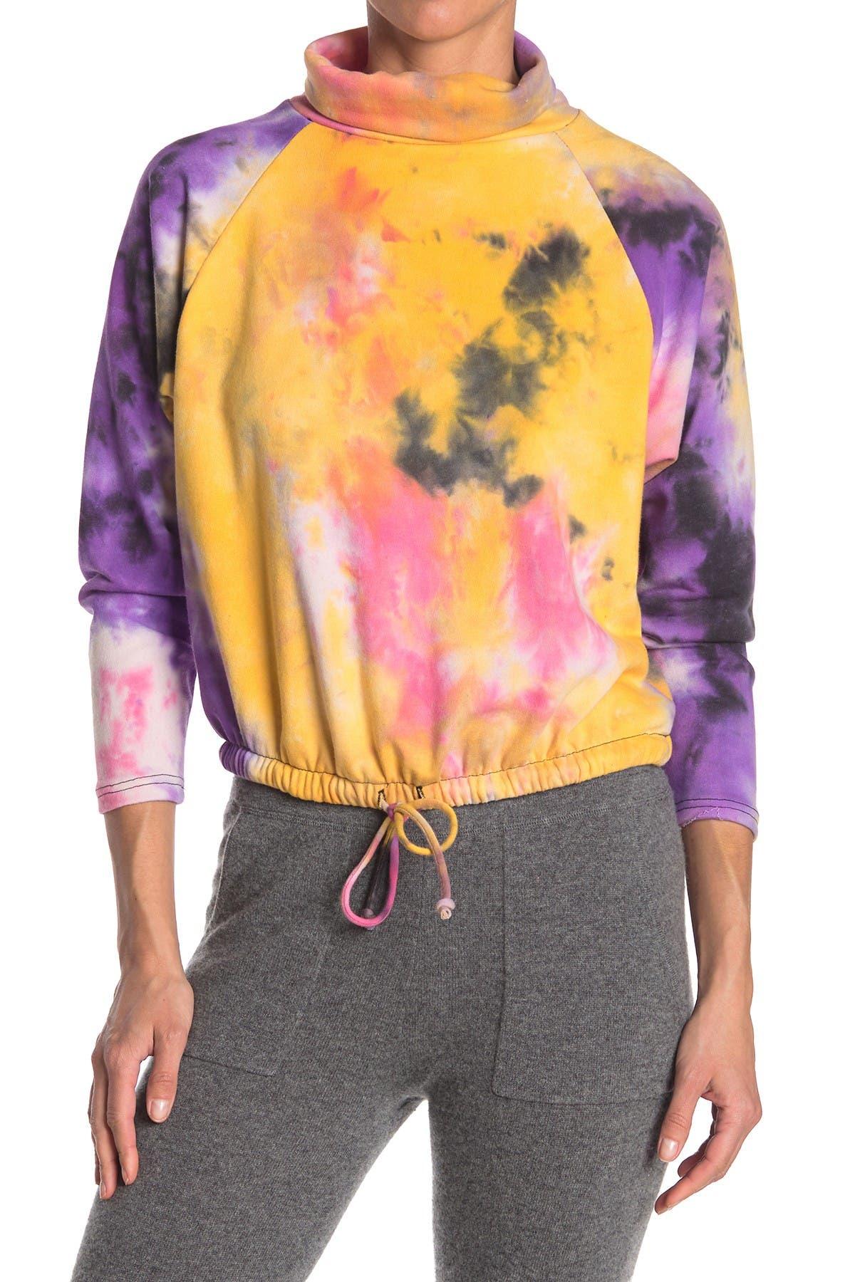 Image of Lush Tie-Dye Mock Neck Pullover